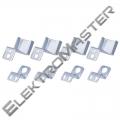 4 háčky pro LED panel 60×60cm
