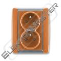 Dvojzásuvka ELEMENT 5512E-C02359 07