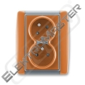 Dvojzásuvka ELEMENT 5513E-C02357 07