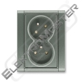 Dvojzásuvka TIME 5513F-C02357 34