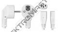 Flexo 3m PVC kul.3x1 vidl.úhl.černá N5
