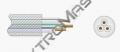 H03 VVH2-F 3X 0,75 transp. (SPPK 3075)