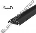 Hliníkový profil BRG-2 1m pro LED pásky, černý