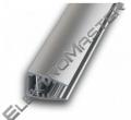 Hliníkový profil LED MIKRO pro skleněné police 6mm 2m pro LED pásky, anodovaný