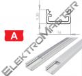 Hliníkový profil LUMINES A 1m pro LED pásky, bílý lakovaný