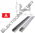 Hliníkový profil LUMINES A 1m pro LED pásky, hliník