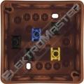 Krabice 90x90mm inst.IP55 hnědá se svor.