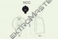 Ovladač NOC/6 šipka velká černá