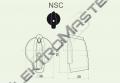 Ovladač NSC/5 šipka střední černá