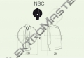 Ovladač NSC/6 šipka střední černá