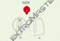 Ovladač NSR/6 šipka střední rudá