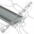 Profil ALU LED AL-02/Z zápustný 2m