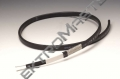Samoregulační topný kabel FroStop Black, pro ochranu odtokových cest, 18 W/m při +5°C, v ledové vodě 28 W/m při 0°C