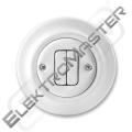 Spínač DECENTO 3559K-C87345 bílá porcel.
