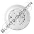 Spínač DECENTO 3559K-C88345 bílá porcel.