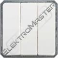 Spínač ELSO 201104 trojitý čistě bílá