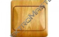 Spínač LYRA č.1- imitace světlé dřevo