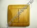 Spínač LYRA č.5B- imitace světlé dřevo