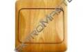 Spínač LYRA č.6- imitace světlé dřevo