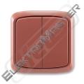 Spínač TANGO 3558A-05940 R2 vřes.červená