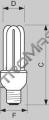 Trub.úsp. E27  8W WW Genie PHILIPS