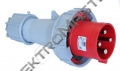 Vidlice 125A / 400V 4-pól. IP67