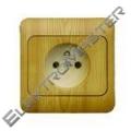 Zásuvka LYRA jednoduchá-im.sv.dřevo